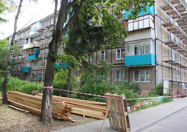 Фасады домов Рязани ремонтируют